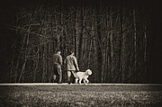 Dog Walking Photo Prints - Walking The Dog Print by Off The Beaten Path Photography - Andrew Alexander