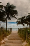 Florida Keys Prints - Walking to the Beach Print by Patrick  Flynn