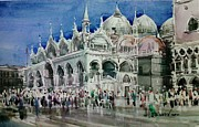 Venice Mixed Media Originals - Walking Venice. Doges Palace by Andrey Larionov