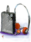Headphones Framed Prints - Walkman Framed Print by Russell Pierce