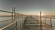 Pedestrian Prints - Walkway And Bridge Print by Landscape photography