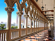Gallery Print Prints - Walkway at the Venetian Hotel Print by Julie Niemela