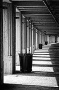 Chicago Black And White Posters - Walkway Poster by Scott Norris