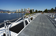Bluesky Photo Prints - Walkway to Science World Print by Terry Dadswell