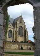 European Church Acrylic Prints - Walkway to Thorn Cathedral Acrylic Print by Carol Groenen