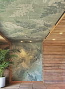 Wooden Paneling Posters - Wall and Ceiling Design Element Poster by Andersen Ross