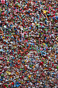 Seattle Photos - Wall of chewing gum Seattle by Garry Gay