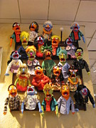Toy Store Photo Metal Prints - Wall of Muppets Metal Print by Choi Ling Blakey