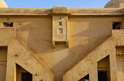 Hindi Photos - Wall of the Amber Fort by Inti St. Clair