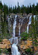 Alberta Water Falls Prints - Wall of Waterfalls Print by Mike Horvath