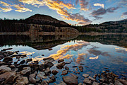 Lake Sunset Photos - Wall Reflection by Chad Dutson