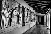 Relief Sculpture Photograph Posters - Wall Sculpture At Scripps Poster by Steven Ainsworth