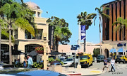 Downtown Digital Art Originals - Wall Street and Herschel La Jolla by Russ Harris