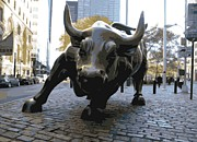 Stock Prints - Wall Street Bull Color 16 Print by Scott Kelley