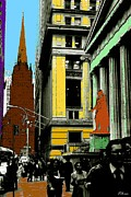Fine American Art Posters - Wall Street - New York Pop Art Poster by Peter Art Prints Posters Gallery
