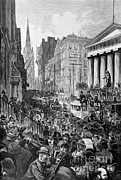 Panic Prints - Wall Street Panic Print by Photo Researchers