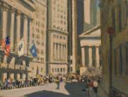 New York Sculpture Metal Prints - Wall Street Metal Print by Vladimir Kozma