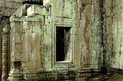 Ruins Pyrography - Wall Ta Prohm by Bob Christopher