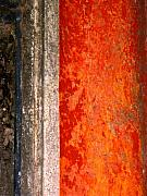 Michael Metal Prints - Wall with Red by Michael Fitzpatrick Metal Print by Olden Mexico