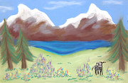 Fun Pastels Posters - Wallowa Meadow Poster by Christine Crosby