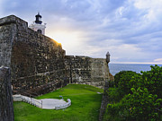 El Morro Photos - Walls of Fort San Felipe Del Morro by George Oze