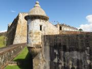 Old San Juan Metal Prints - Walls of San Cristobal Fort San Juan Puerto Rico  Metal Print by George Oze