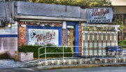 Liquor Store Prints - Wallys  Print by Andrew Armstrong  -  Orange Room Images