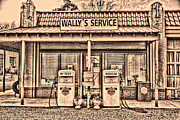 Andy Griffith Posters - Wallys Service Station 2 Poster by Dwayne  Graham