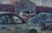 Autos Pastels - Walmart Parking by Donald Maier