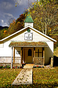 Birch River Prints - Walnut Grove Community Church Print by Thomas R Fletcher