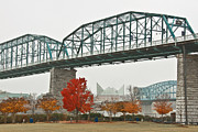 Tennessee River Photo Prints - Walnut Street Bridge Print by Tom and Pat Cory