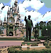 Magic Kingdom Digital Art - Walt and Mickey by George Pedro