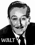Disney Digital Art Framed Prints - Walt Framed Print by David Lee Thompson