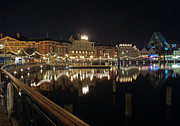Night Pyrography Prints - Walt Disney World - Boardwalk Villas  Print by AK Photography