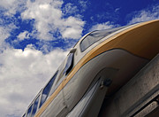 Walt Disney World - Monorail Yellow Print by AK Photography