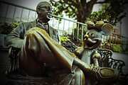 Statue Pyrography Prints - Walt Disney World - Magic Kingdom Print by AK Photography
