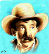 Legend Framed Prints - Walter Brennan Framed Print by Arne Hansen