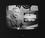 1970s Candids Framed Prints - Walter Cronkite, American Journalist Framed Print by Everett