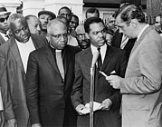 Race Discrimination Framed Prints - Walter Fauntroy Second From Right Framed Print by Everett