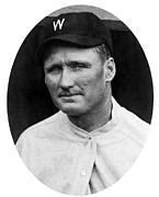Baseball Teams Framed Prints - Walter Johnson - Washington Senators Baseball Player Framed Print by International  Images