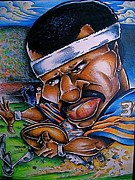 Big Mike Roate Drawings Framed Prints - Walter Payton Framed Print by Big Mike Roate