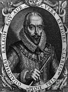 Knighted Posters - Walter Raleigh, English Courtier Poster by Photo Researchers
