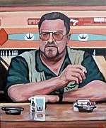 The Dude Painting Posters - Walter Sobchak Poster by Tom Roderick