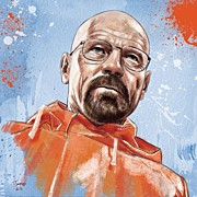 Portraits Art - Walter White by Tony Santiago