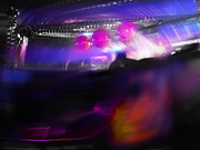 Lights Digital Art Originals - Waltzer Balls by Charles Stuart
