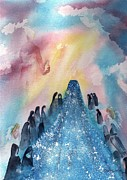 Jesus In Clouds Paintings - Wandas Vision by Sharon Mick