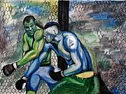 Championship Mixed Media - Wanderlei Silva vs. Chuck Lidell by Michael Cook