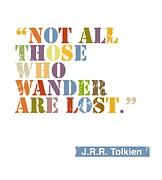 Lord Of The Rings Prints - Wanderlust Print by Cindy Greenbean
