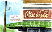 Coca-cola Sign Paintings - Wang Fat Fish Market by Jerry  Grissom