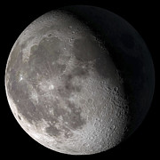 Exterior Prints - Waning Gibbous Moon Print by Stocktrek Images
